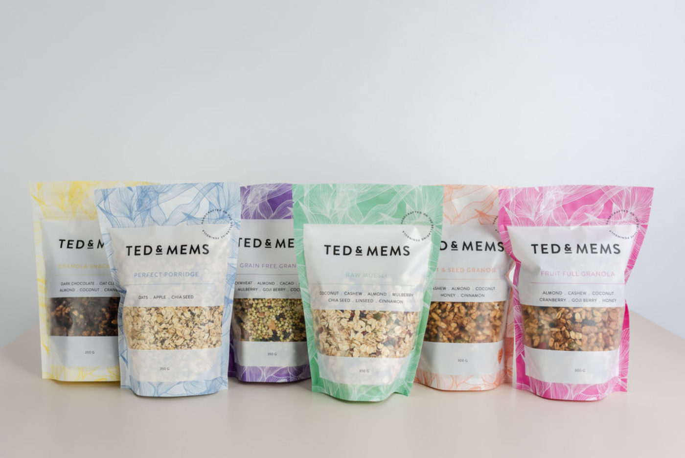 Ted and Mems stand up pouches flexible packaging group.