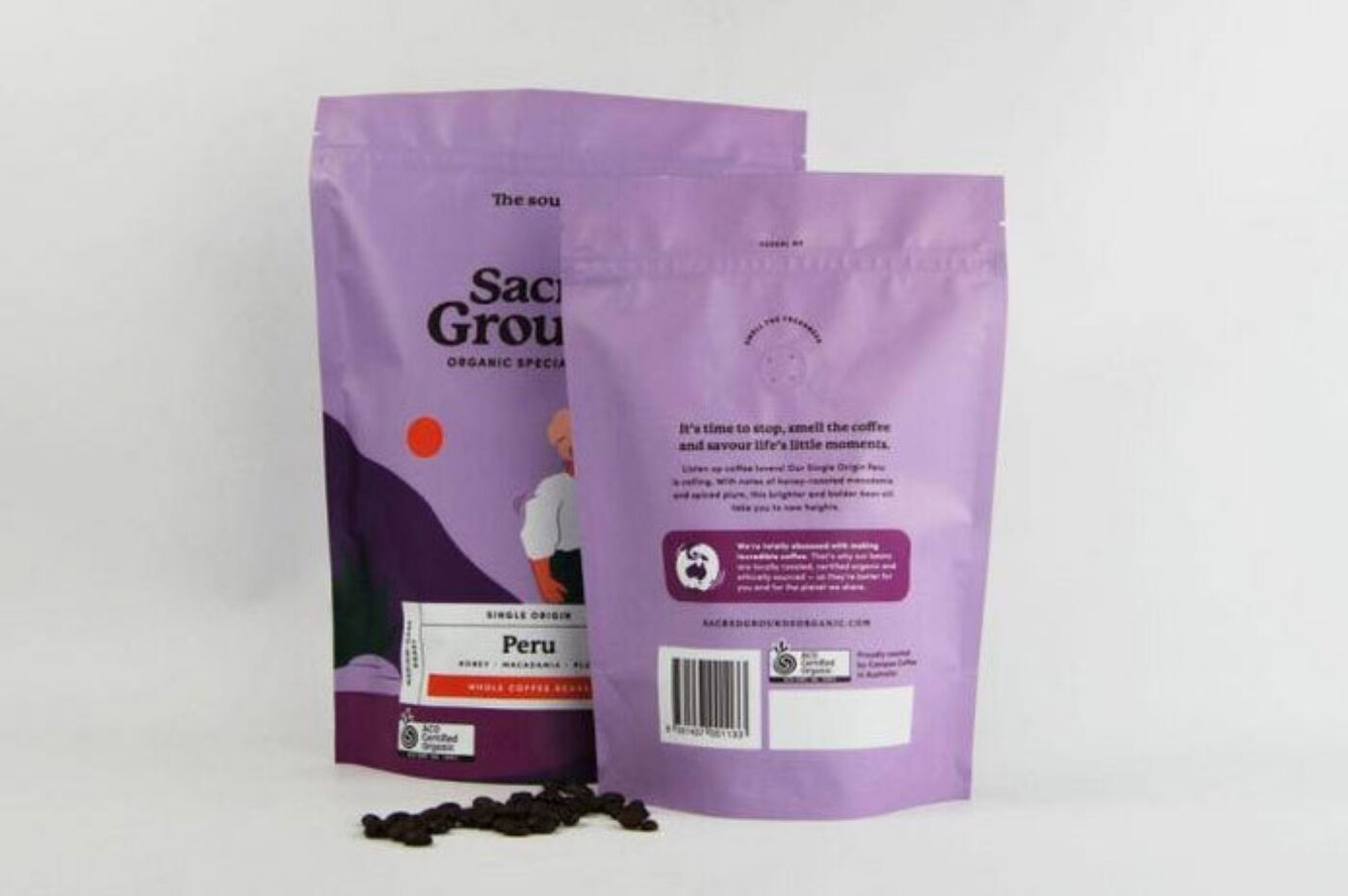 stand up pouch coffee packaging